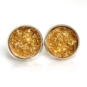 3 for $15🎀Apricot Crystal faux druzy studs